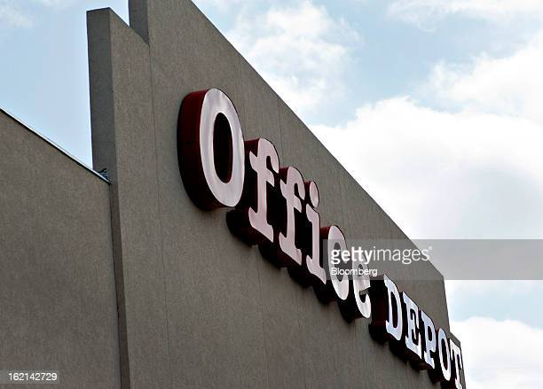 An Office Depot Inc. Store stands in Peoria, Illinois, U.S., on Tuesday, Feb. 19, 2013. Office Depot Inc. And OfficeMax Inc. Are discussing a merger...