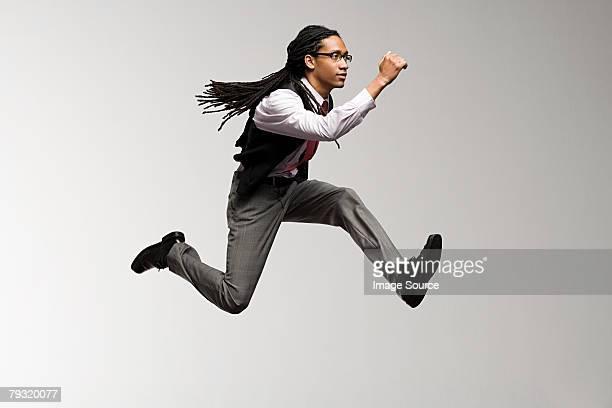 ein büroangestellter jumping - show business stock-fotos und bilder