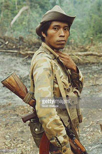 An officer in the Sandinista Popular Army Nicaragua 1987