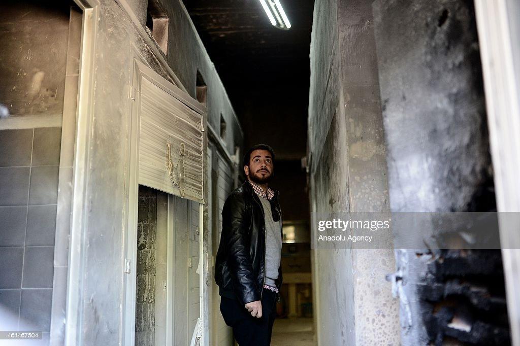 Christian religious school set on fire in Jerusalem : News Photo