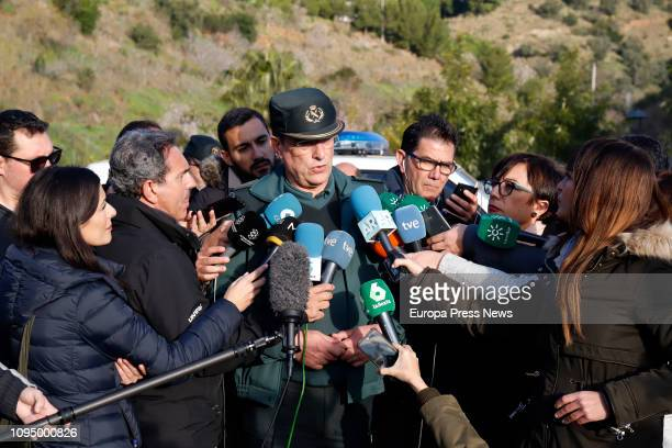 An officer talks to the press during the operation to rescue a twoyearold boy that fell on Sunday into a narrow well 400 feet deep on January 16 in...