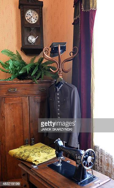 An officer's uniform of Karol Wojtyla's father is on display at the historic house museum of the Holy Father John Paul II Family Home in Wadowice...