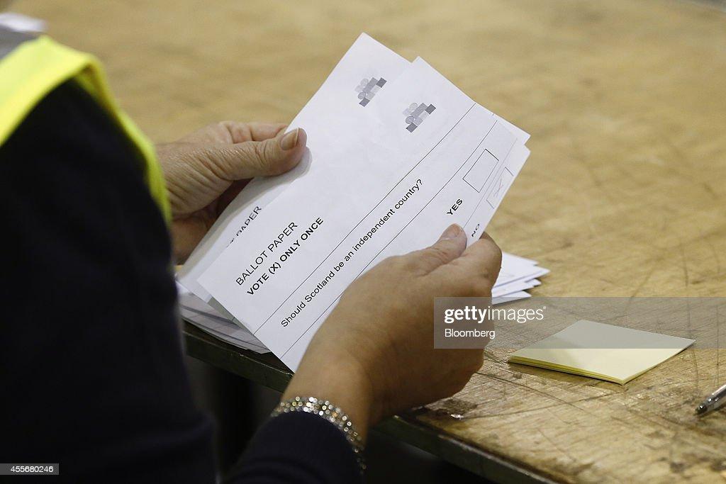Scottish Independence Referendum Vote Night : News Photo