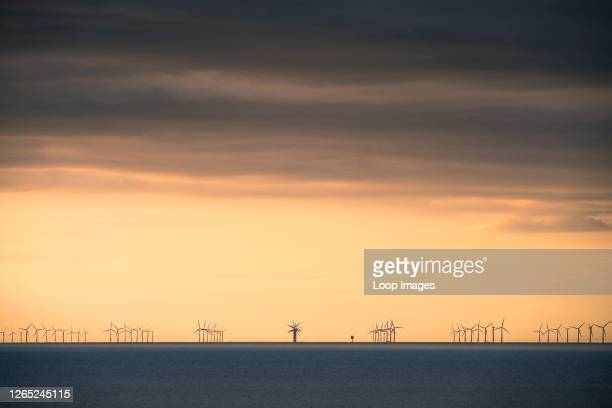 An offshore wind farm situated off the North Norfolk Coast.