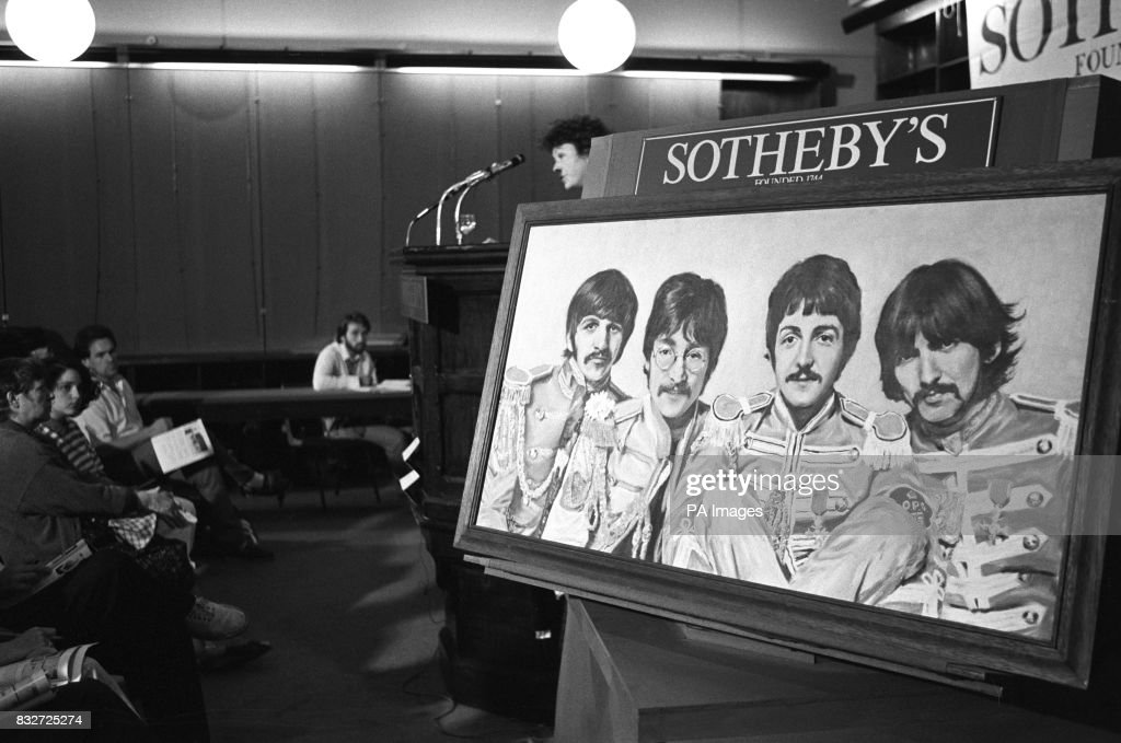 An Oil Portrait Of The Beatles In Their Sgt Pepper Uniforms By R News Photo Getty Images