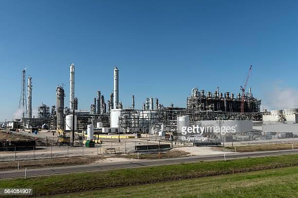 An oil refinery in Groves Texas near Port Arthur