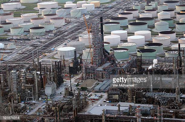 An oil refinery is seen June 2 2010 in Pascagoula Mississippi Oil believed to be related to the Deepwater Horizon accident began to appear yesterday...