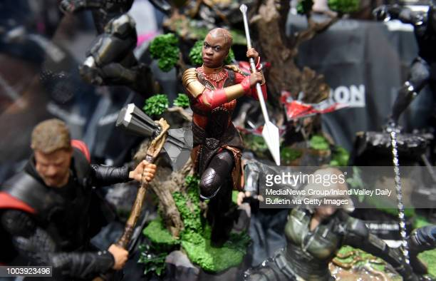 An Okoye figure for sale at the Sideshow booth as fans attend Preview Night during the San Diego ComicCon at the San Diego Convention Center in San...
