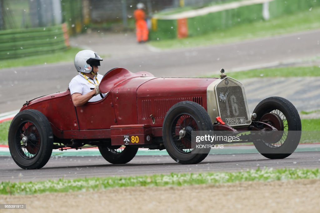 An old Alfa Romeo race car during Minardi Day in Imola. Pictures ...