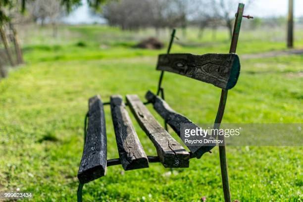 An old and forgotten bench