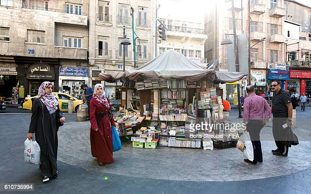 An old book store in the streets of downtown Amman is pictured prior to the FIFA U17 Women's World Cup Jordan 2016 on September 27 2016 in Amman...