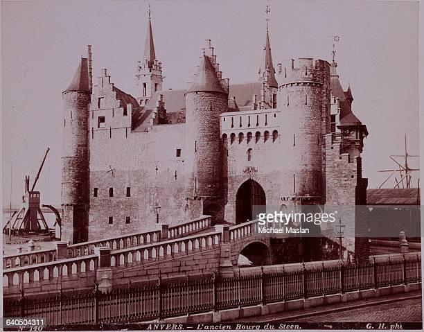 An old castle in Antwerp Belgium ca 1880s1890s