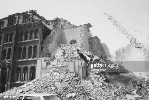 An old church is demolished on West Broadway SoHo New York City 1981