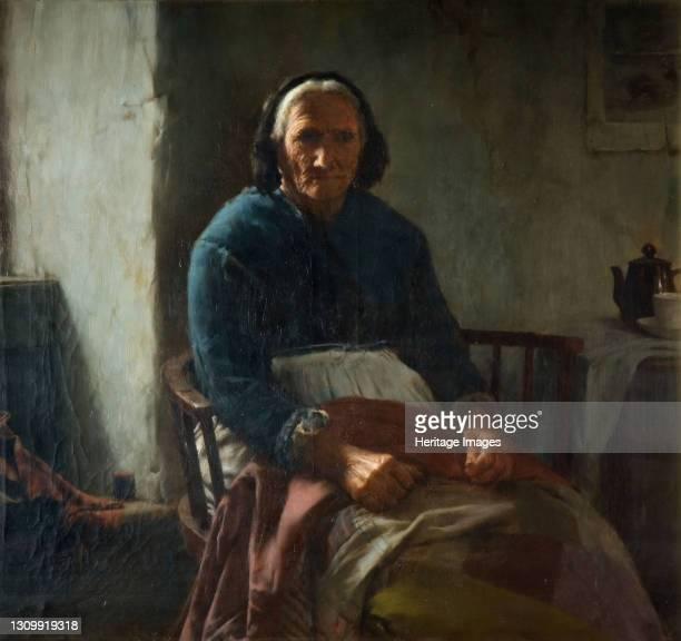 An Old Cornish Woman, 1882-1900. Artist Walter Langley. .