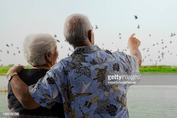 An old couple enjoying