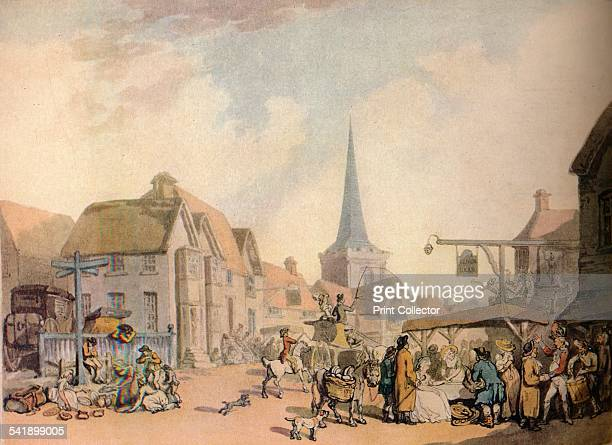 'An old English Village Scene' c18th century From The Connoisseur 1941 edited by H Granville Fell [The National Magazine Co Ltd London 1941]Artist...