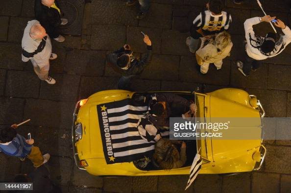 An Old Fiat 500 Parades With A Juventus Pictures Getty Images