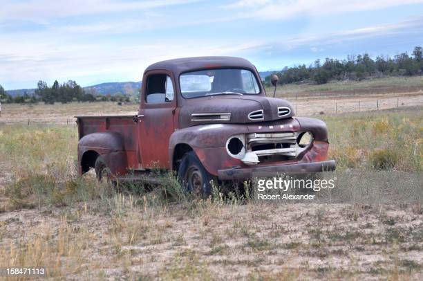 An old Ford pickup truck parked along the highway near Cortez Colorado 5104602RA_Colorado15jpg
