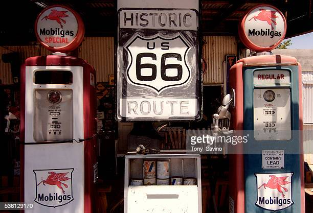 An old gas station on Route 66 Arizona