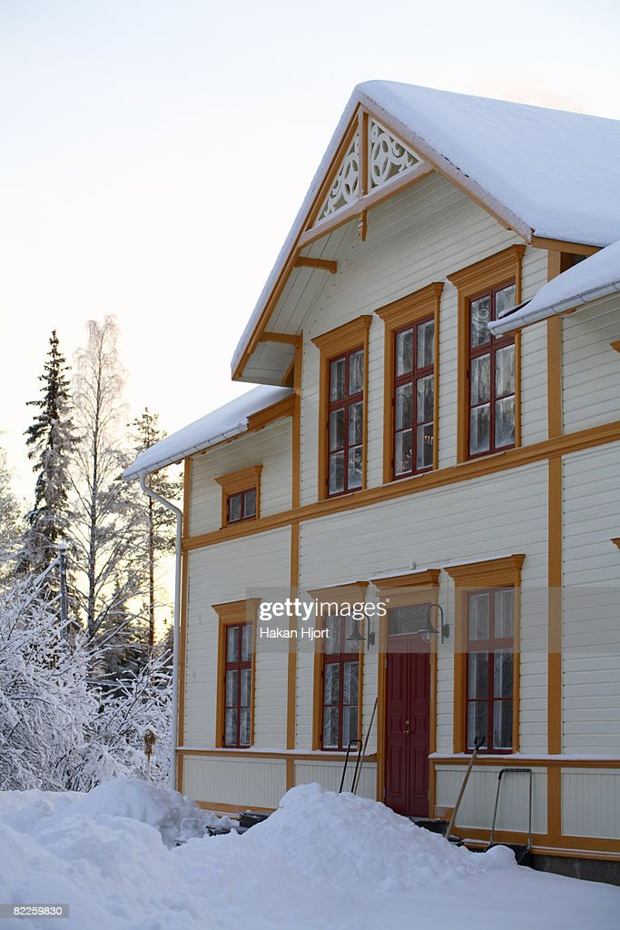 An old house from the 19th century Norrbotten Sweden. : Stock Photo