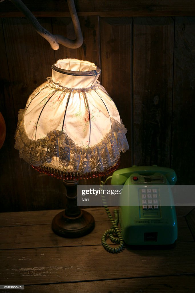 Beautiful An Old Lamp Yellow Light And