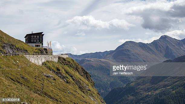 An old lodge is seen near the Grossglockner high alpine road on September 23 near Zell am See Austria The Grossglockner high alpine road is the...