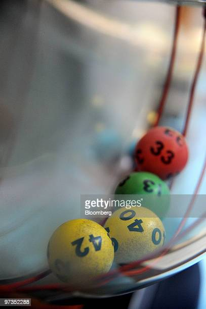 An old lottery machine is displayed at the headquarters of Tatts Group Ltd in Melbourne Australia on Tuesday March 2 2010 Tatts Group Ltd Australia's...