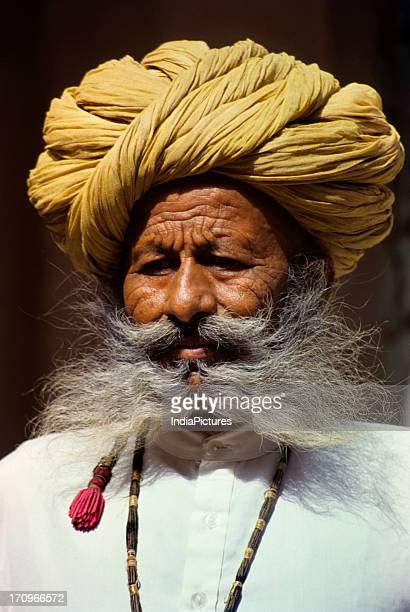 An old man in Mehrangarh Fort Jodhpur Rajasthan India