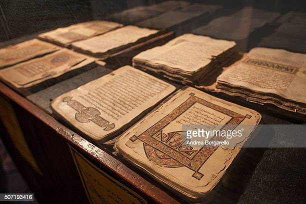 an old manuscripts in Juma Al Majid Centre for the manuscripts conservation and restoration of Timbuktu on January 19 2010 in Timbuktu Mali...