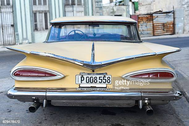 An old model of Chevrolet Impala one of many thousands of a classic American cars seen in HavanaThousands of vintage American cars remain scattered...
