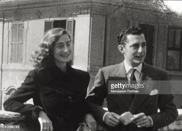 An old photo belonged to Susanna Agnelli that portray herself youngh on a terrace together her loved and admired older brother Giovanni known as...