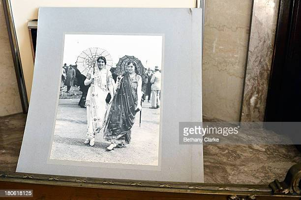 An old photograph believed to be of reliatives of Indianborn aristocrats Sir Dhunjibhoy and Lady Bomanji is seen on a table in Pineheath house on...