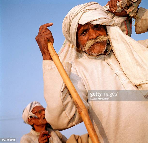 An old pilgrim at the Maha Kumbh Mela The Kumbh Mela is a mass Hindu pilgrimage occuring four times every twelve years at four locations and is the...