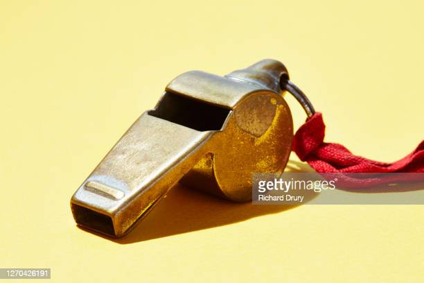 an old referees whistle - richard drury stock pictures, royalty-free photos & images