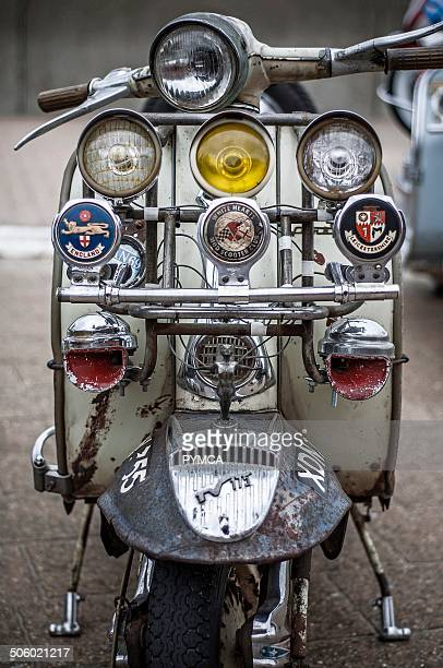 An old rusty Lambretta Isle of Wight Scooter Rally 2009