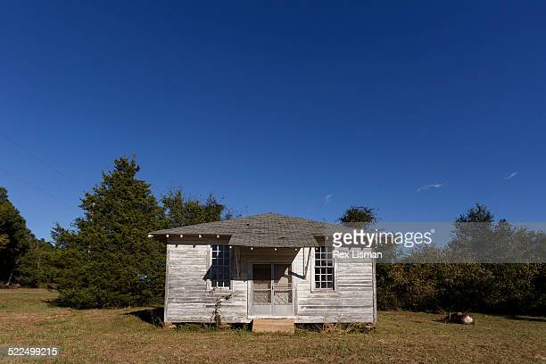 An old small church no longer in use in rural Arkansas