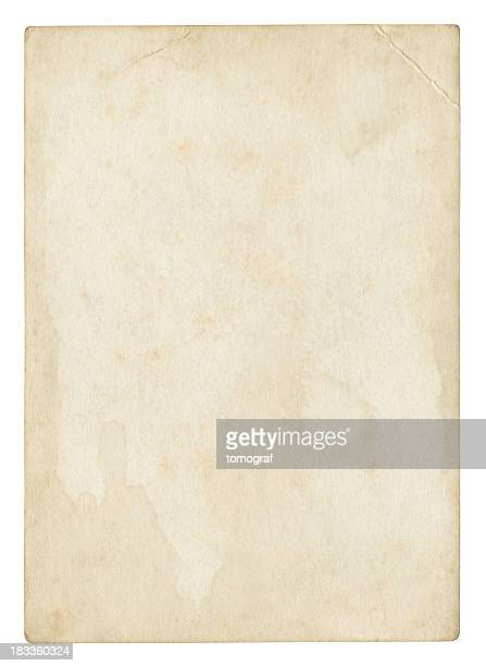 an old stained blank piece of beige paper - obsolete stock pictures, royalty-free photos & images