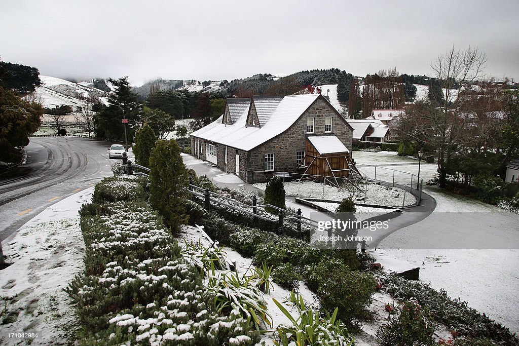 An old Stone House is covered in snow in Cracroft Valley on June 21, 2013 in Christchurch, New Zealand. Now, sleet, rain and heavy winds have hit the region causing power outages, some flooding and bringing trees down.