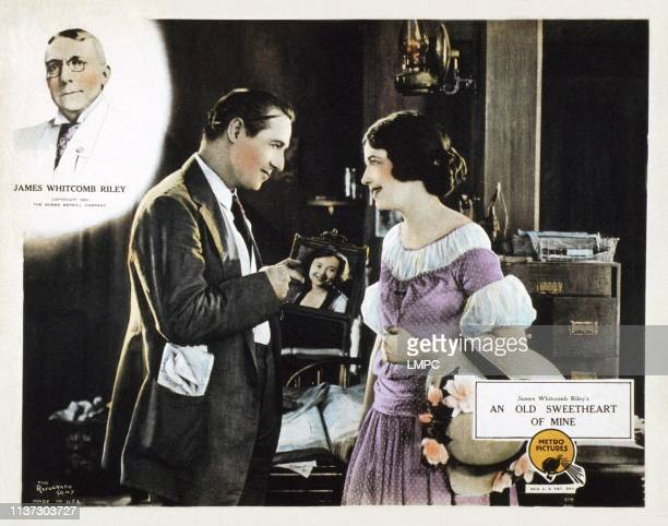 An Old Sweetheart Of Mine US lobbycard from left James Whitcomb Riley Elliott Dexter Helen Jerome Eddy 1923