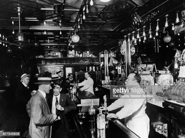 An old town saloon in New York New York circa 1905