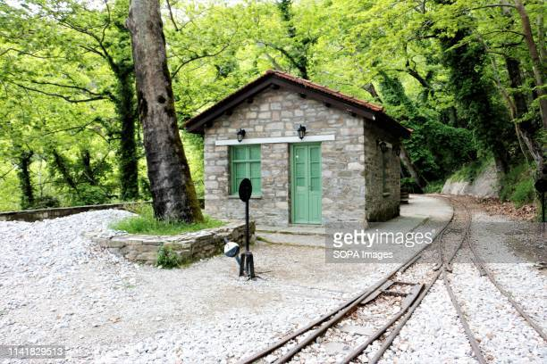 An old train keeper's house seen at millies in Pelion The Greek region of Pelion is named after the Mountain and is full of villages showcasing the...