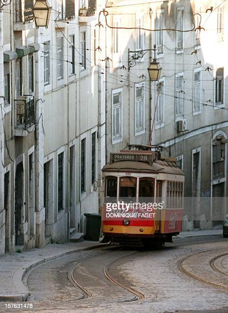 An old tramway makes its way in the Alfama district the old city of Lisbon 26 February The Universal Exposition EXPO 98 begins in the Portuguese...