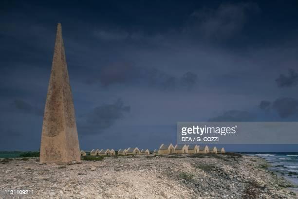 An old village of slave huts, Bonaire, Dutch Caribbean colonies, Netherlands Antilles.