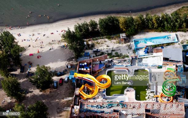 An old water park is seen on August 20 2017 in RostovonDon Russia