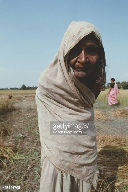 An old woman from a low caste in Bihar India circa 1995