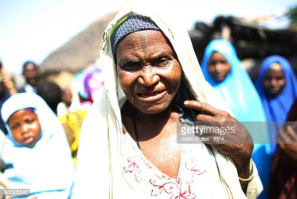 An old woman is pictured in a street on November 07 2009 in Bauchi Nigeria