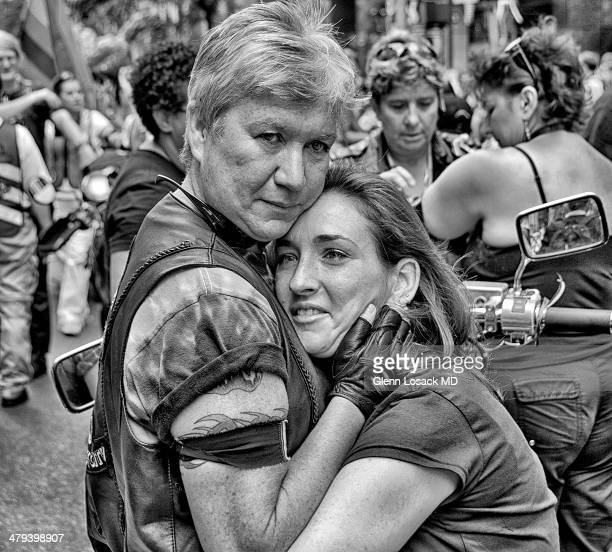 An older lady with a much younger one Lesbian lovers Gay Parade Manhattan NYC