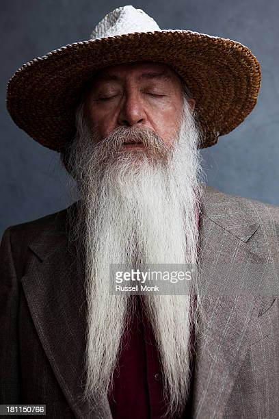 An older man with a long white beard