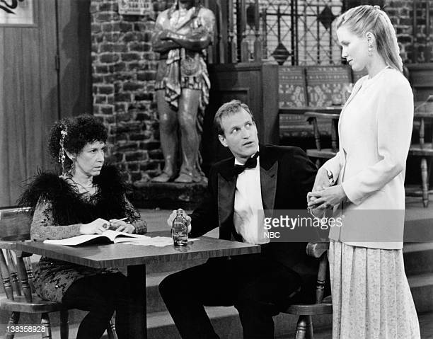 CHEERS An OldFashioned Wedding Episode 25 Air Date Pictured Rhea Perlman as Carla LeBec Woody Harrelson as Woody Boyd Jackie Swanson as Kelly Gaines