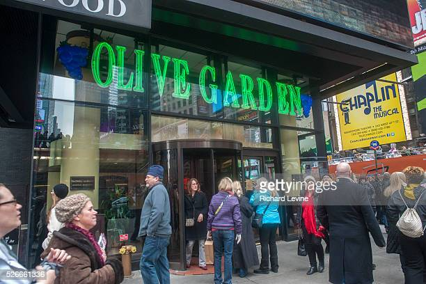 An Olive Garden restaurant in Times Square in New York is seen on Saturday December 8 2012 Darden Restaurants reported second quarter profits beating...